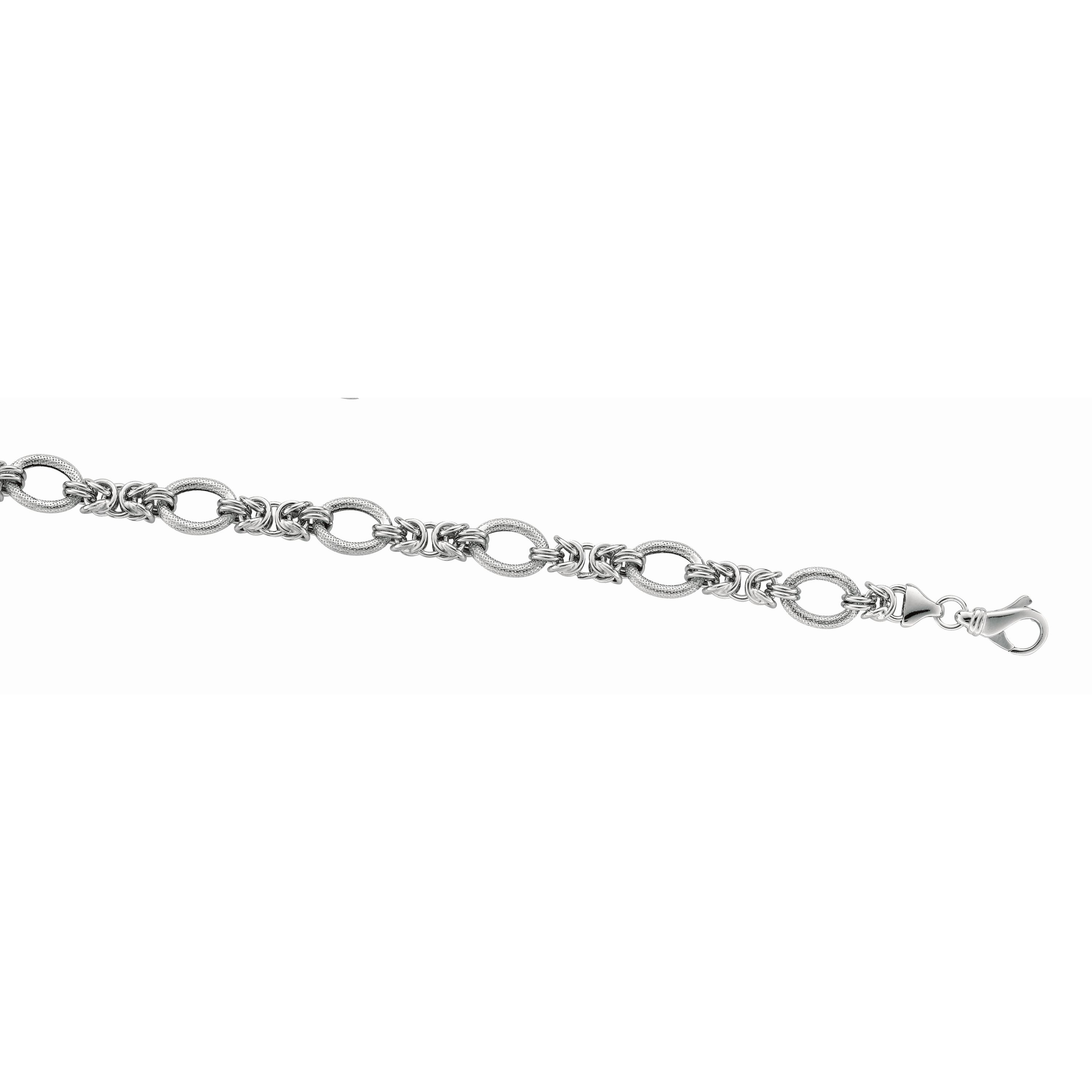 Sterling Silver With Rhodium Finish Bracelet James Wolf Jewelers Mason, OH