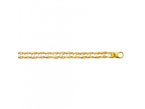14K Yellow & White Gold Bracelet by Royal Chain