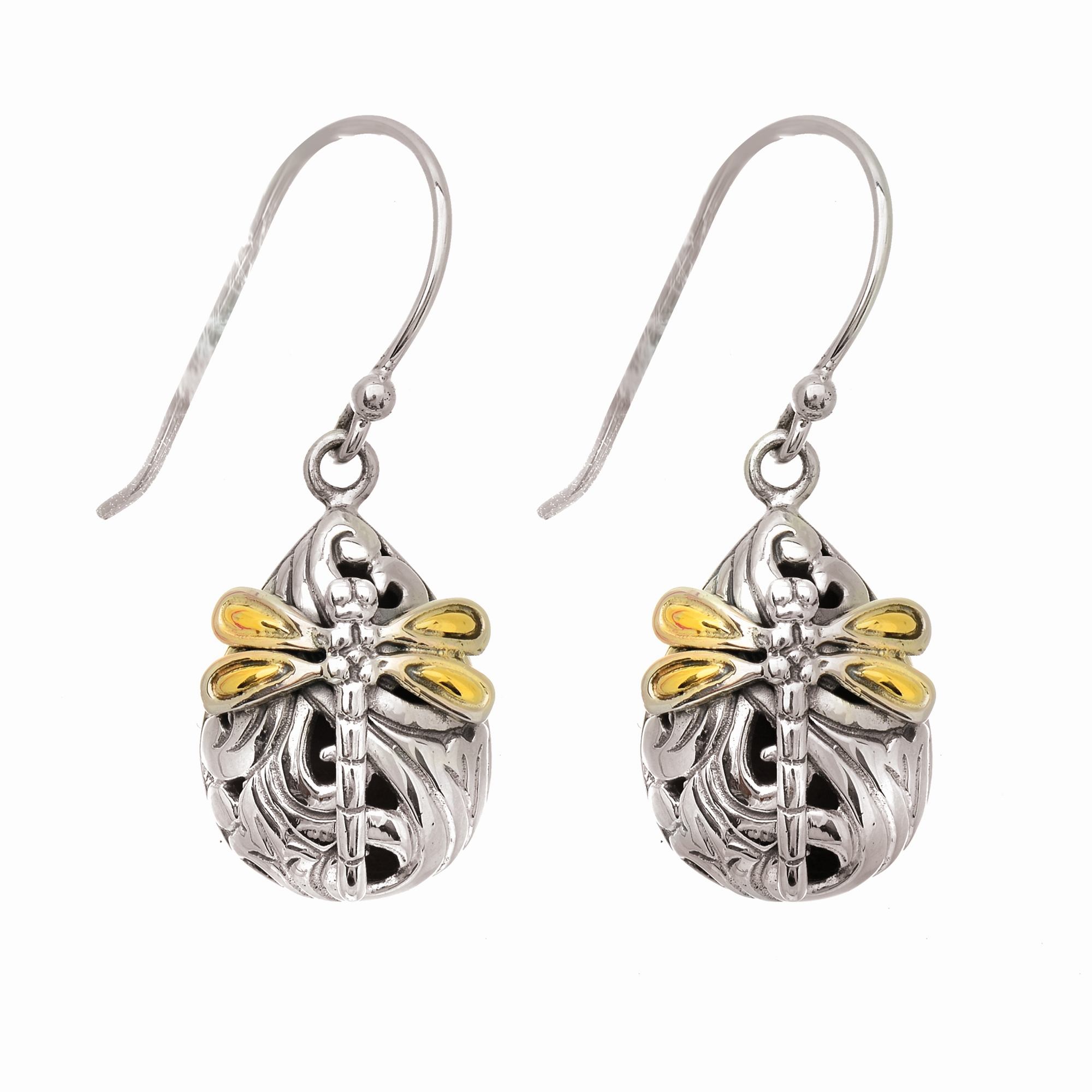 18K YELLOW & WHITE GOLD  Gold Earrings by Phillip Gavriel