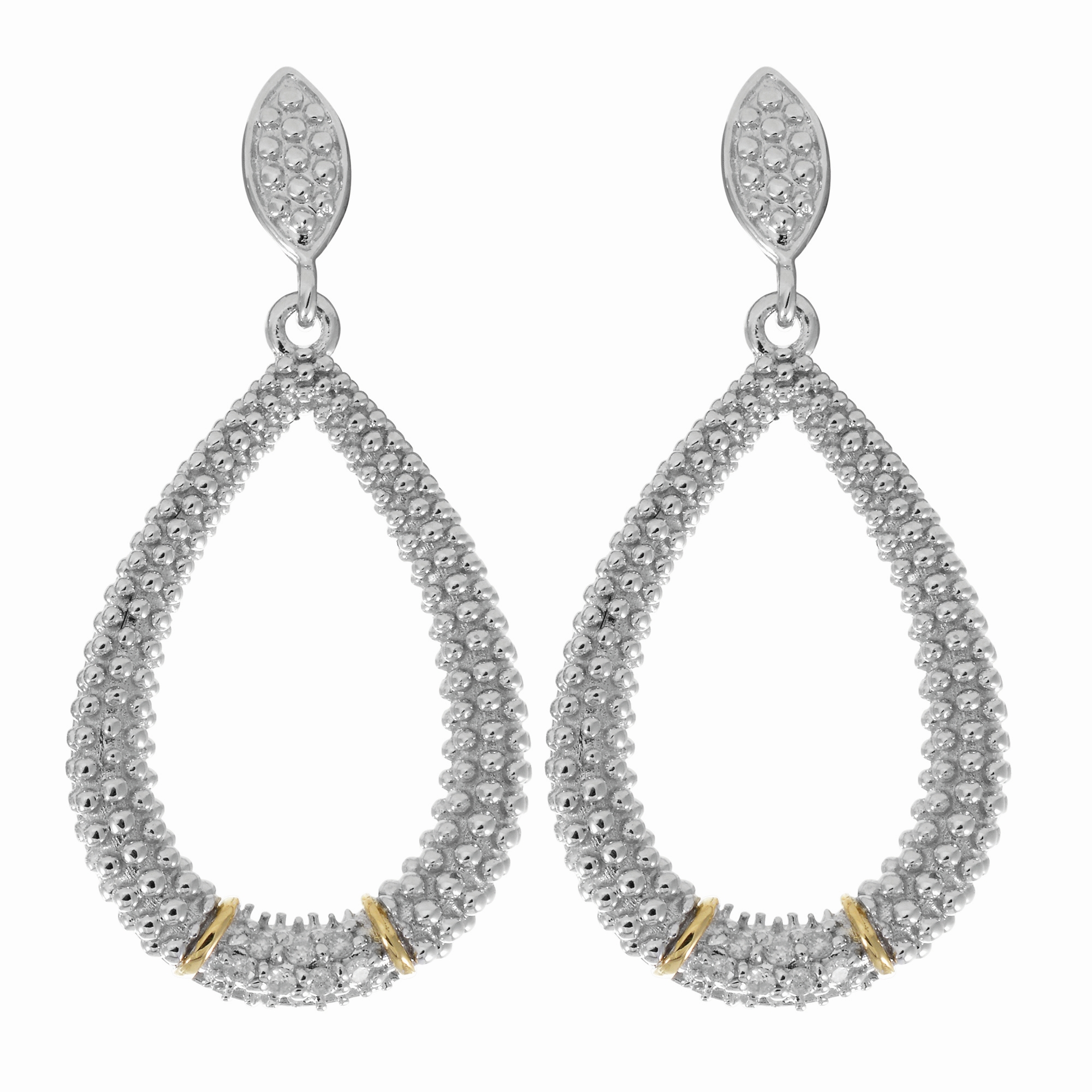 18K Yellow & White Gold Earring James Wolf Jewelers Mason, OH