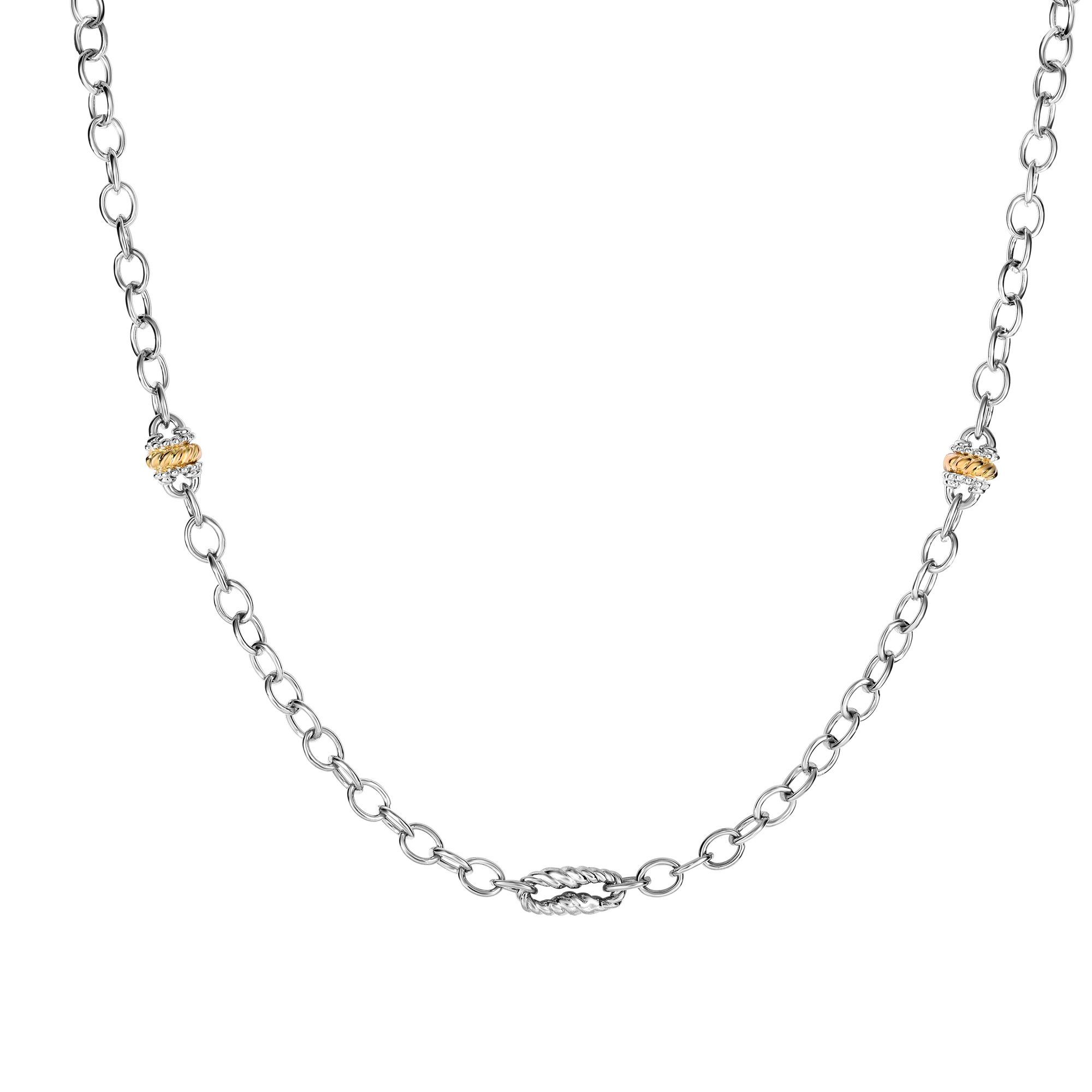 18K Yellow & White Gold Necklace James Wolf Jewelers Mason, OH