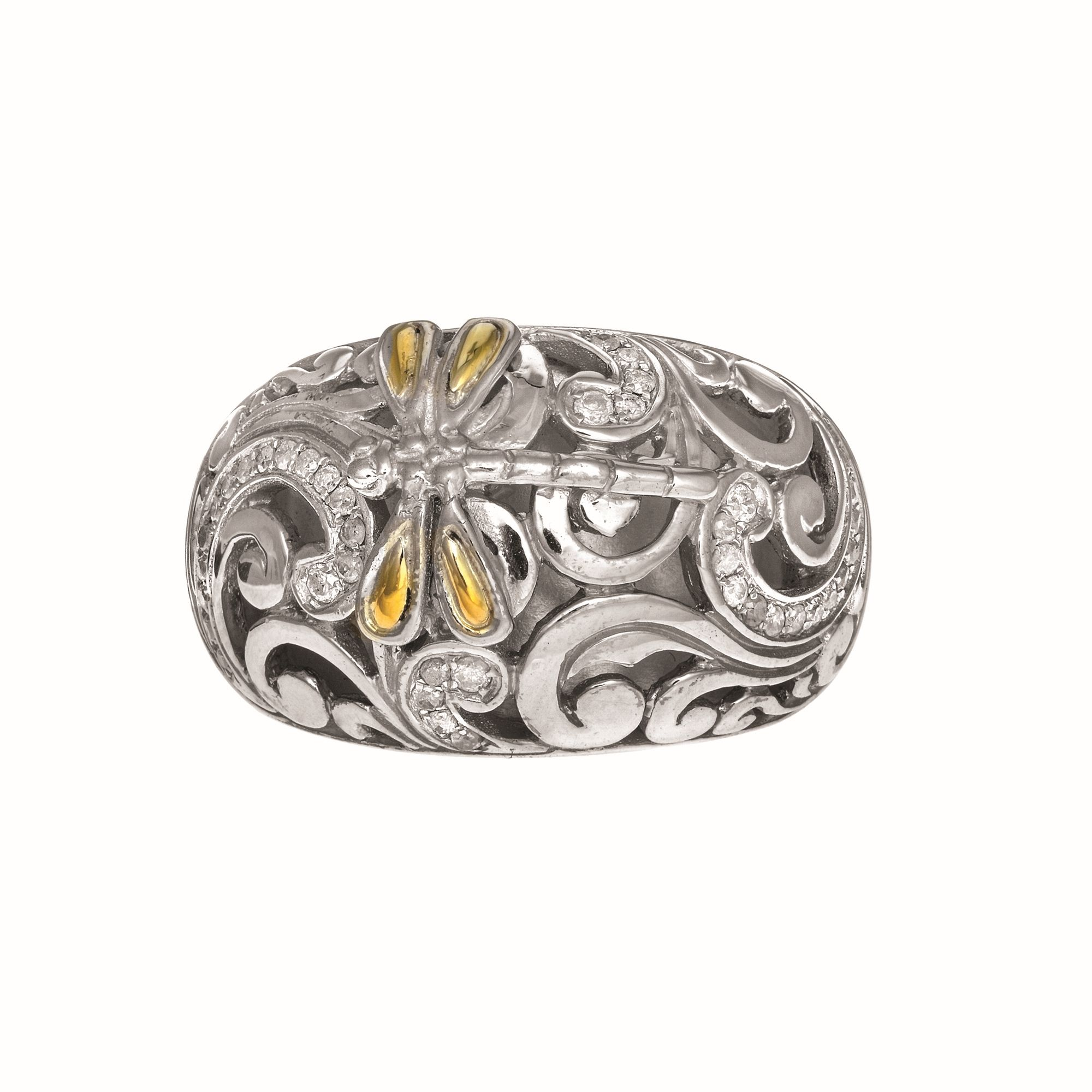 18K Yellow & White Gold Ring James Wolf Jewelers Mason, OH