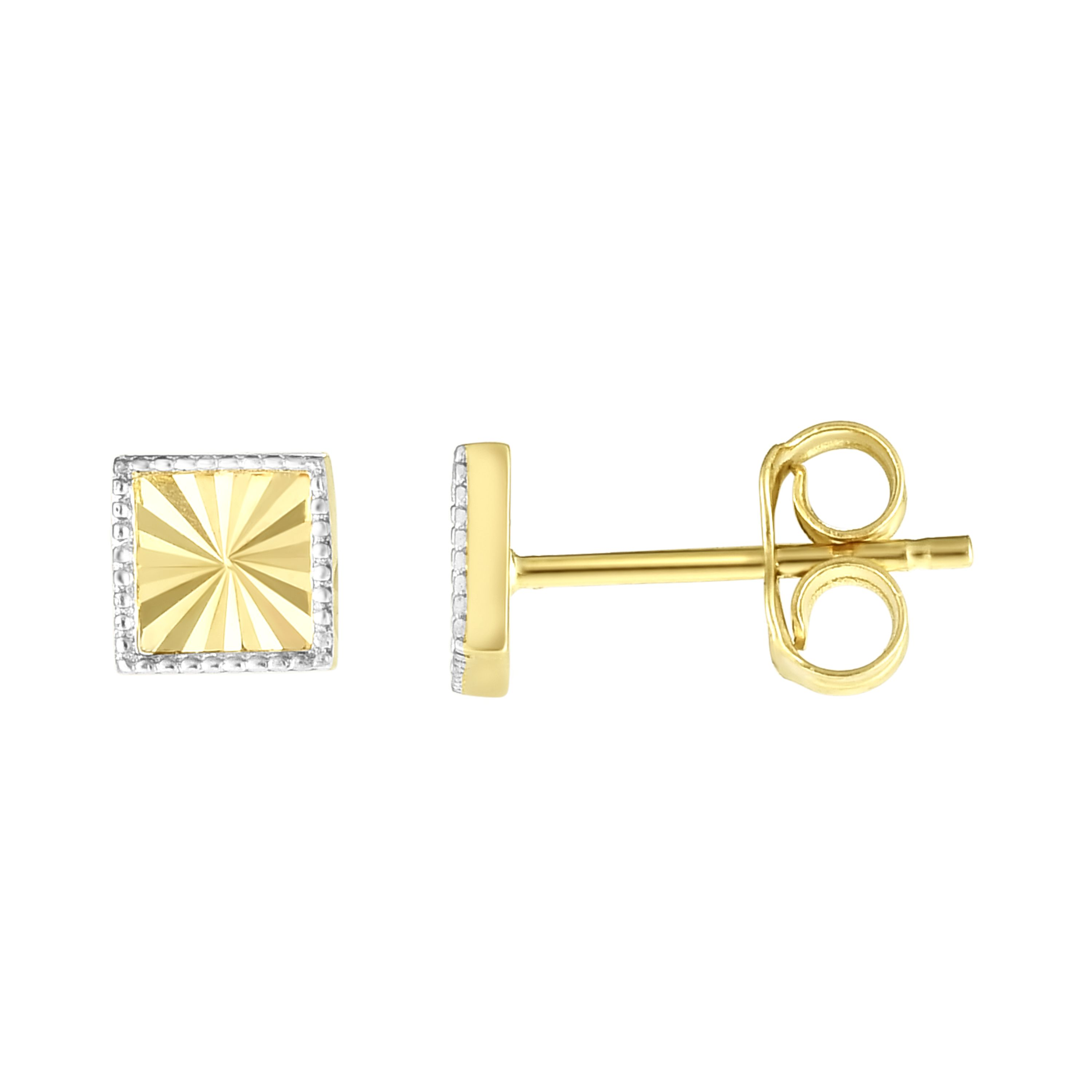 14K Yellow & White Gold Earring Wyatt's Jewelers Seattle, WA