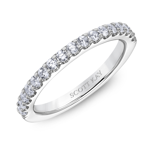 "Diamond Engagement Rings - 14K ""Luminaire"" Ladies Diamond Wedding Band - image #2"