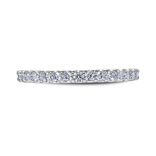 "Diamond Engagement Rings - 14K ""Luminaire"" Ladies Diamond Wedding Band"