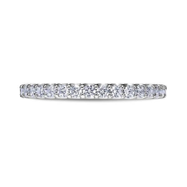 "Ladies Wedding Bands - 18K ""Luminaire"" Ladies Diamond Wedding Band"