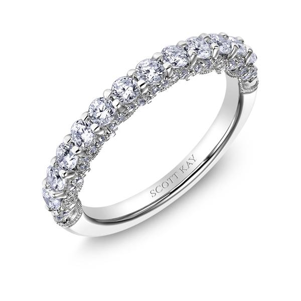Scott Kay 18k Heaven S Gates Ladies Diamond Wedding Band D Geller Son Jewelers Atlanta Ga