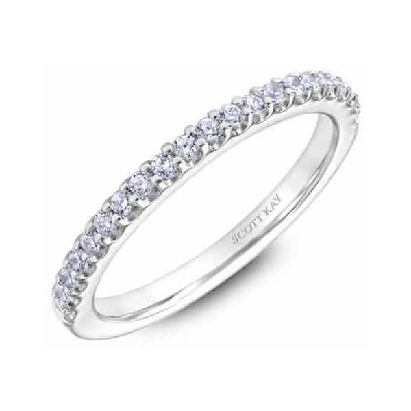 "Ladies' Wedding Rings - 14K ""Heaven's Gates"" Ladies Diamond Wedding Band - image #2"