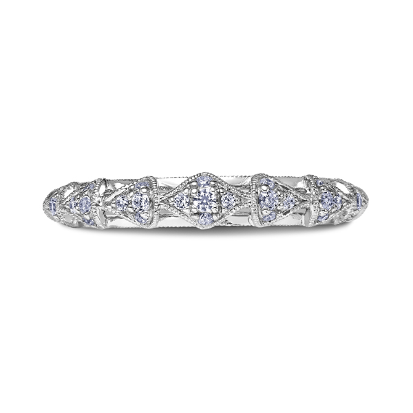 "Ladies' Wedding Rings - 18K ""Heaven's Gates"" Ladies Diamond Wedding Band"