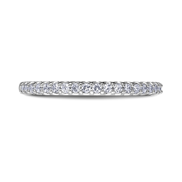 "Ladies Wedding Bands - 18K ""Namaste"" Ladies Diamond Wedding Band"