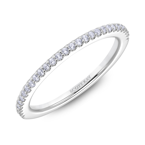 "Ladies' Wedding Rings - 18K ""Namaste"" Ladies Diamond Wedding Band - image #2"