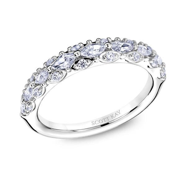 "Ladies Wedding Bands - Platinum ""Luminaire"" Ladies Diamond Wedding Band - image 2"