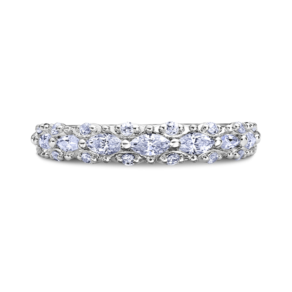 "Ladies Wedding Bands - 14K ""Luminaire"" Ladies Diamond Wedding Band"