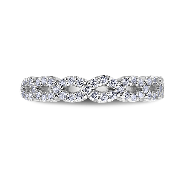 "Platinum ""Namaste"" Ladies Diamond Wedding Band by Scott Kay"