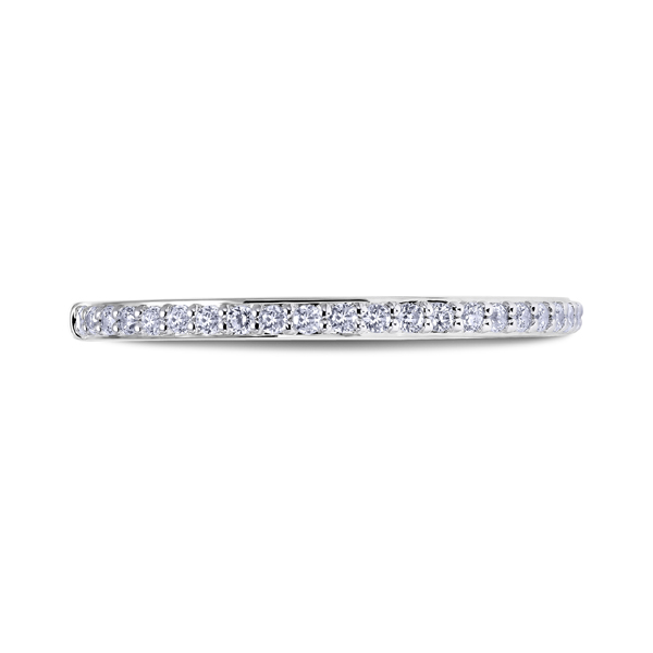 "Ladies Wedding Bands - Platinum ""Namaste"" Ladies Diamond Wedding Band"
