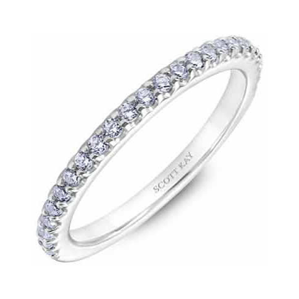 "Ladies Wedding Bands - 18K ""The Crown"" Ladies Diamond Wedding Band - image #2"