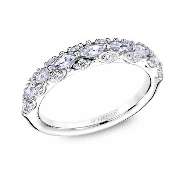 "Ladies Wedding Bands - 14K ""Luminaire"" Ladies Diamond Wedding Band - image 2"