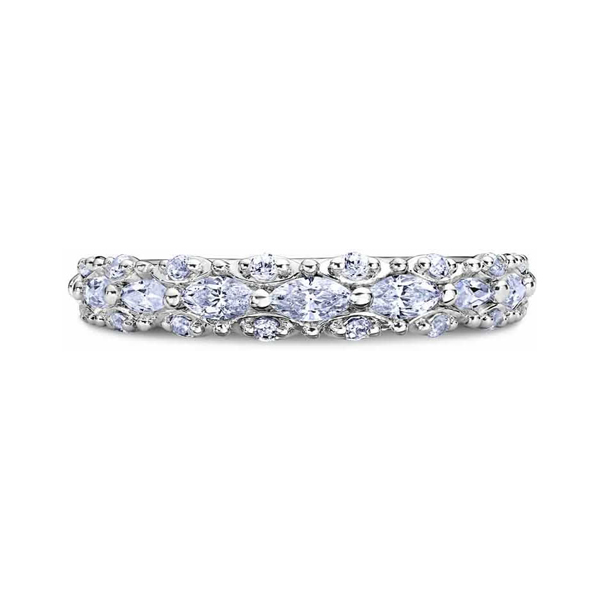 "Ladies' Wedding Rings - Platinum ""Luminaire"" Ladies Diamond Wedding Band"
