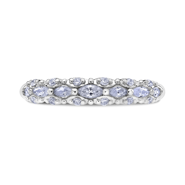 "Ladies' Wedding Rings - 18K ""Luminaire"" Ladies Diamond Wedding Band"