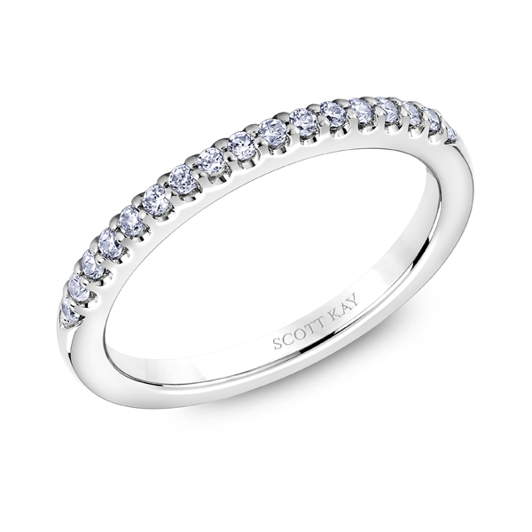 "Ladies' Wedding Rings - 14K ""Namaste"" Ladies Diamond Wedding Band - image #2"