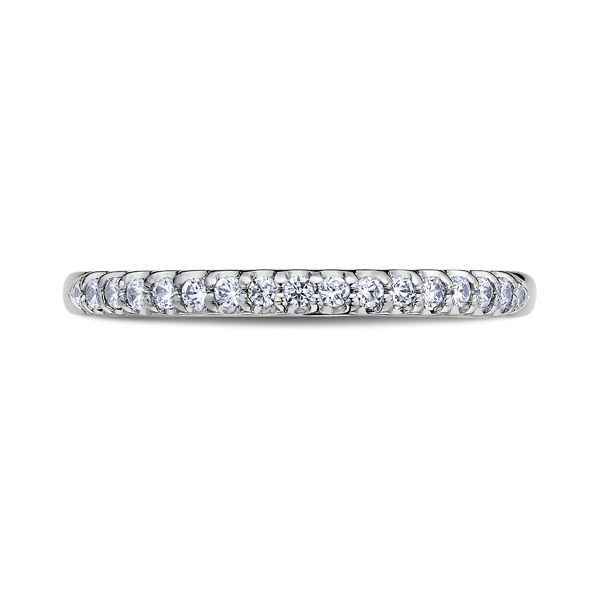 "Ladies' Wedding Rings - 18K ""Namaste"" Ladies Diamond Wedding Band"