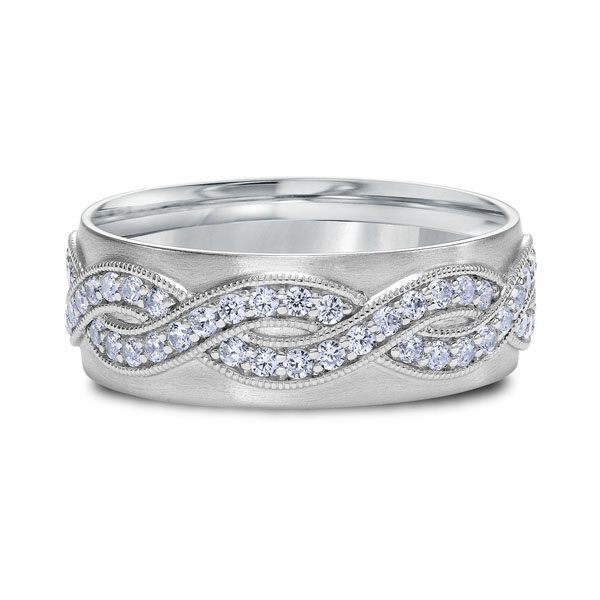 "Platinum ""Classic"" Mens Wedding Band by Scott Kay"