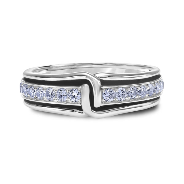 "Platinum ""Guardian"" Mens Wedding Band by Scott Kay"