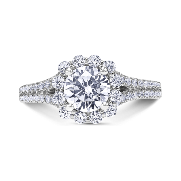 "Diamond Engagement Rings - 18K ""Namaste"" Diamond Engagement Ring"