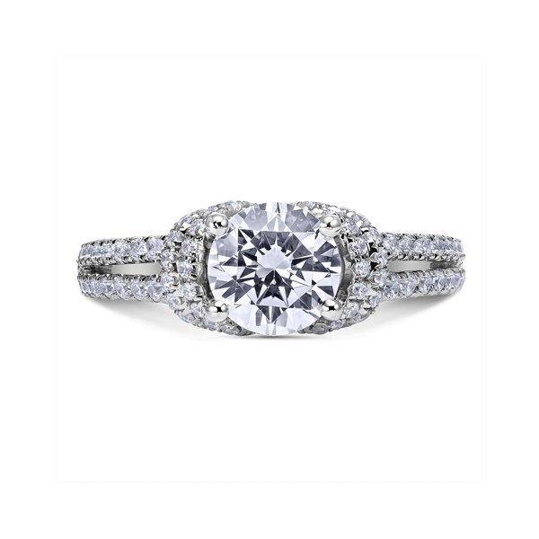 "Engagement Rings - Platinum ""Luminaire"" Diamond Engagement Ring"