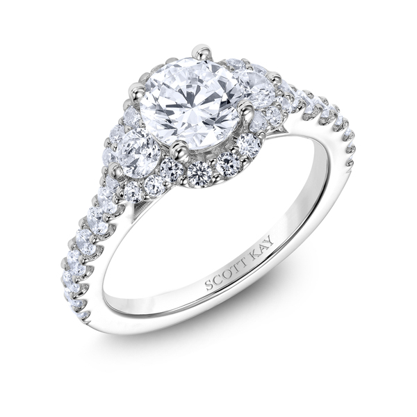 "Diamond Engagement Rings - Platinum ""Luminaire"" Diamond Engagement Ring - image #2"