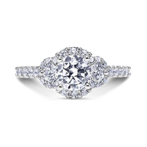 "Platinum ""Luminaire"" Diamond Engagement Ring by Scott Kay"