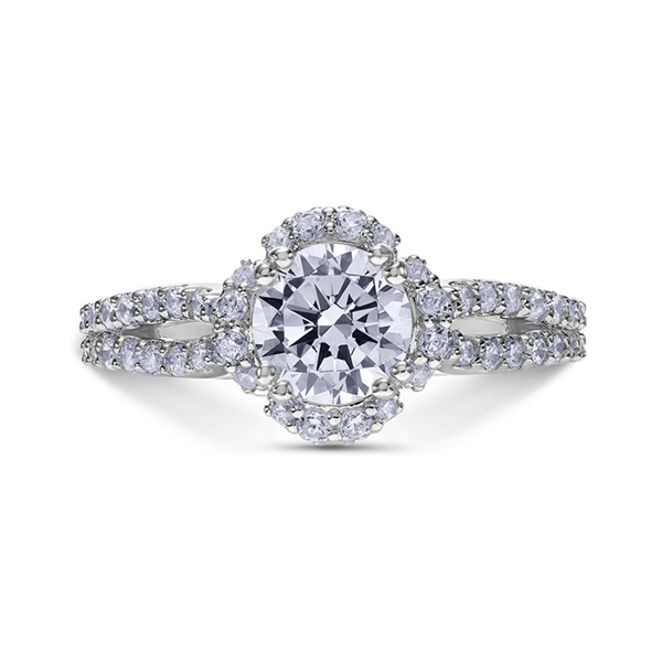 "Engagement Rings - 18K ""Heaven's Gates"" Diamond Engagement Ring"