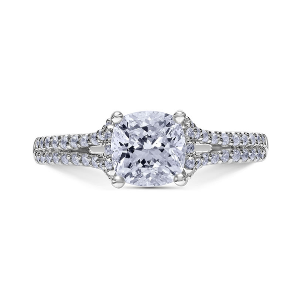 "Diamond Engagement Rings - Platinum ""Heaven's Gates"" Diamond Engagement Ring"