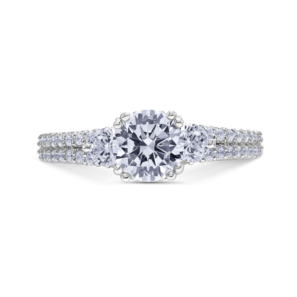 "Diamond Engagement Rings - 18K ""Heaven's Gates"" Diamond Engagement Ring"