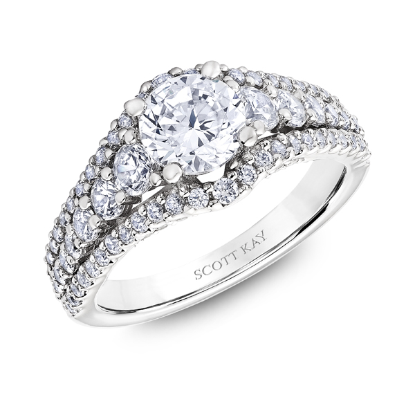 "Diamond Engagement Rings - Platinum ""Namaste"" Diamond Engagement Ring - image #2"