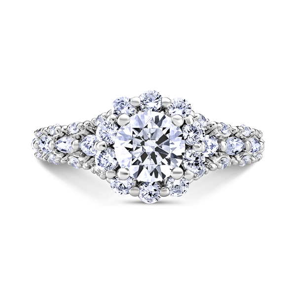 "Diamond Engagement Rings - 14K ""Luminaire"" Diamond Engagement Ring"
