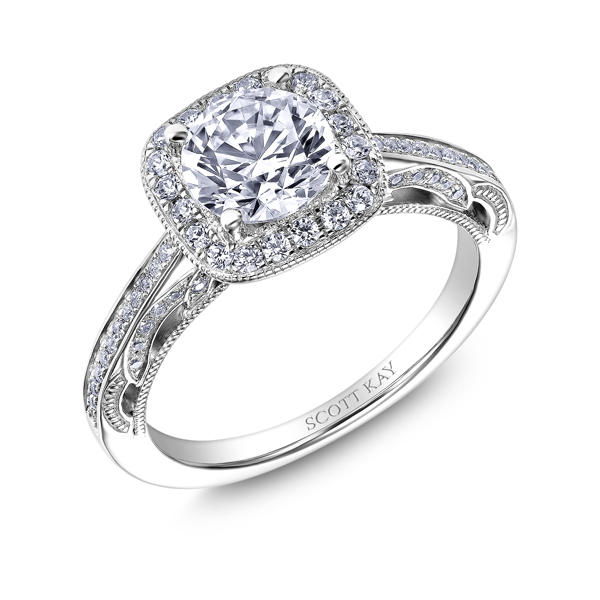 "Diamond Engagement Rings - 18K ""Parisi"" Diamond Engagement Ring - image #2"
