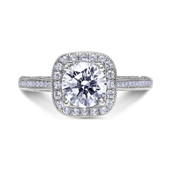 "Diamond Engagement Rings - 18K ""Parisi"" Diamond Engagement Ring"