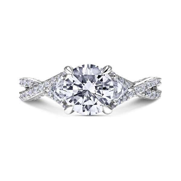 "18K ""Namaste"" Diamond Engagement Ring by Scott Kay"