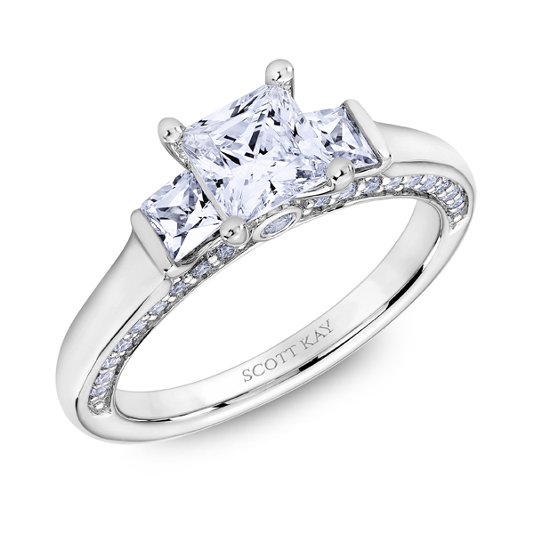 "Diamond Engagement Rings - 14K ""The Crown"" Diamond Engagement Ring - image #2"