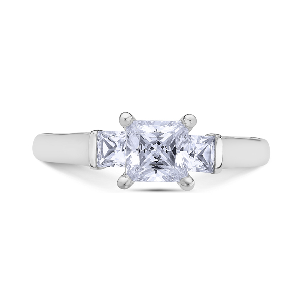 "Diamond Engagement Rings - Platinum ""The Crown"" Diamond Engagement Ring"