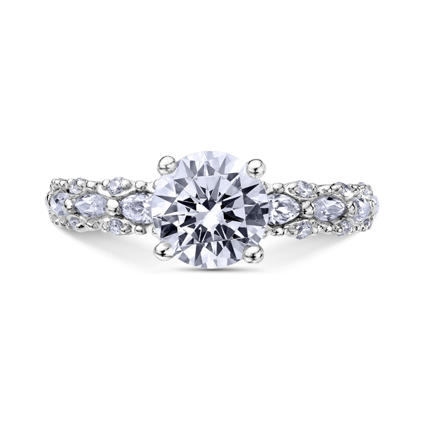 "Diamond Engagement Rings - 18K ""Luminaire"" Diamond Engagement Ring"