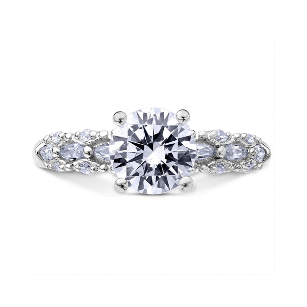 "18K ""Luminaire"" Diamond Engagement Ring Malak Jewelers Charlotte, NC"