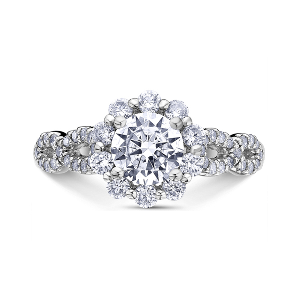 "Diamond Engagement Rings - 14K ""Namaste"" Diamond Engagement Ring"