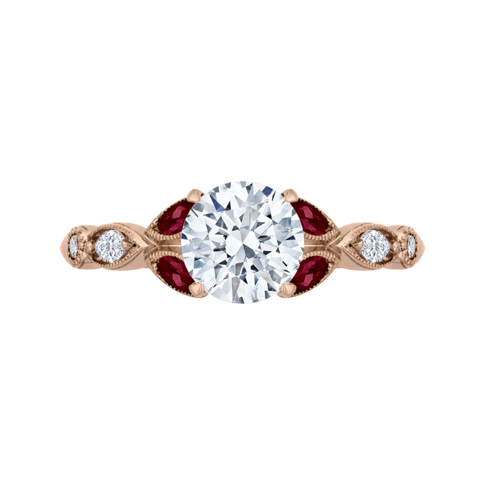 18K Rose Gold Engagement Ring The Stone Jewelers Boone, NC