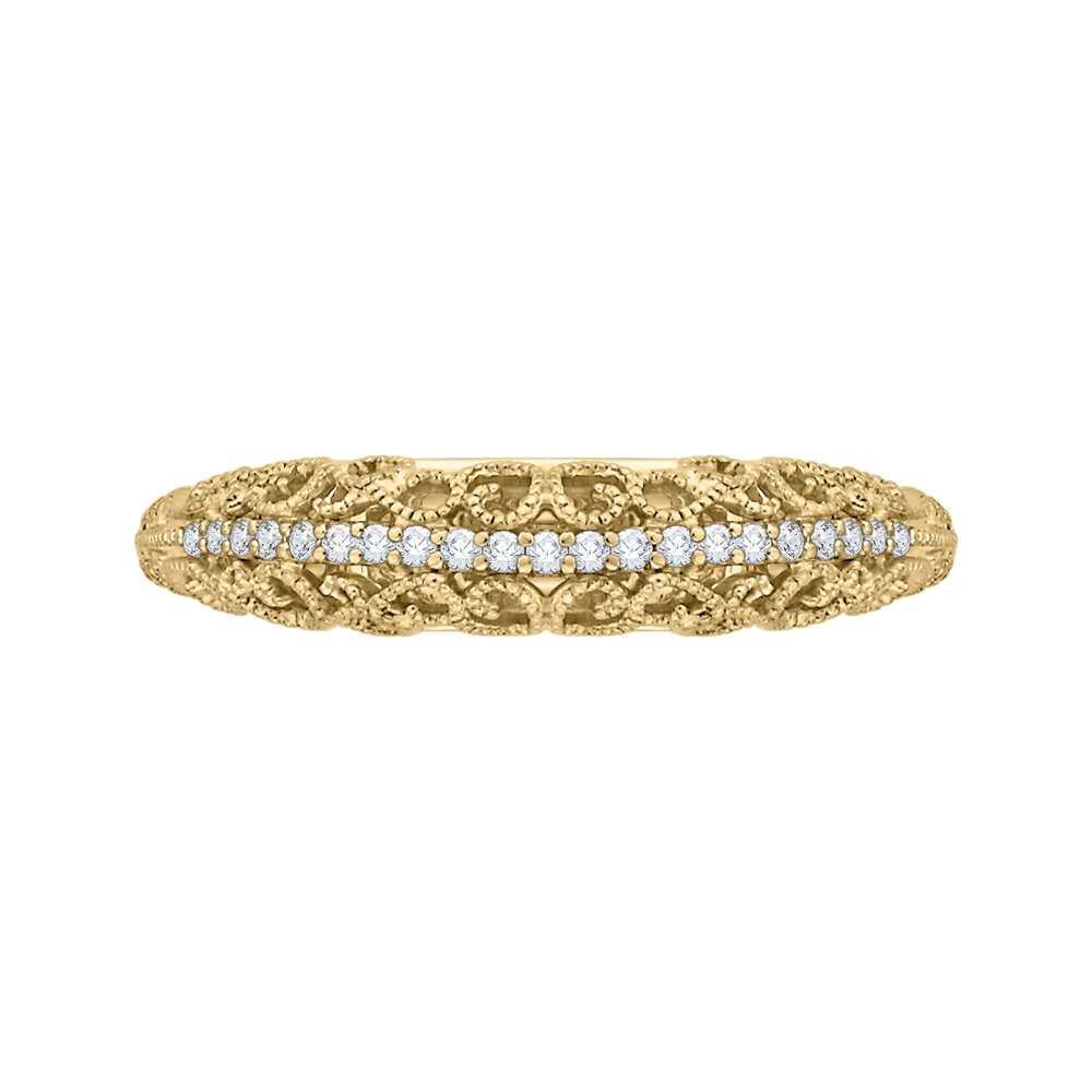 18K Yellow Gold Ladies Wedding Band The Stone Jewelers Boone, NC
