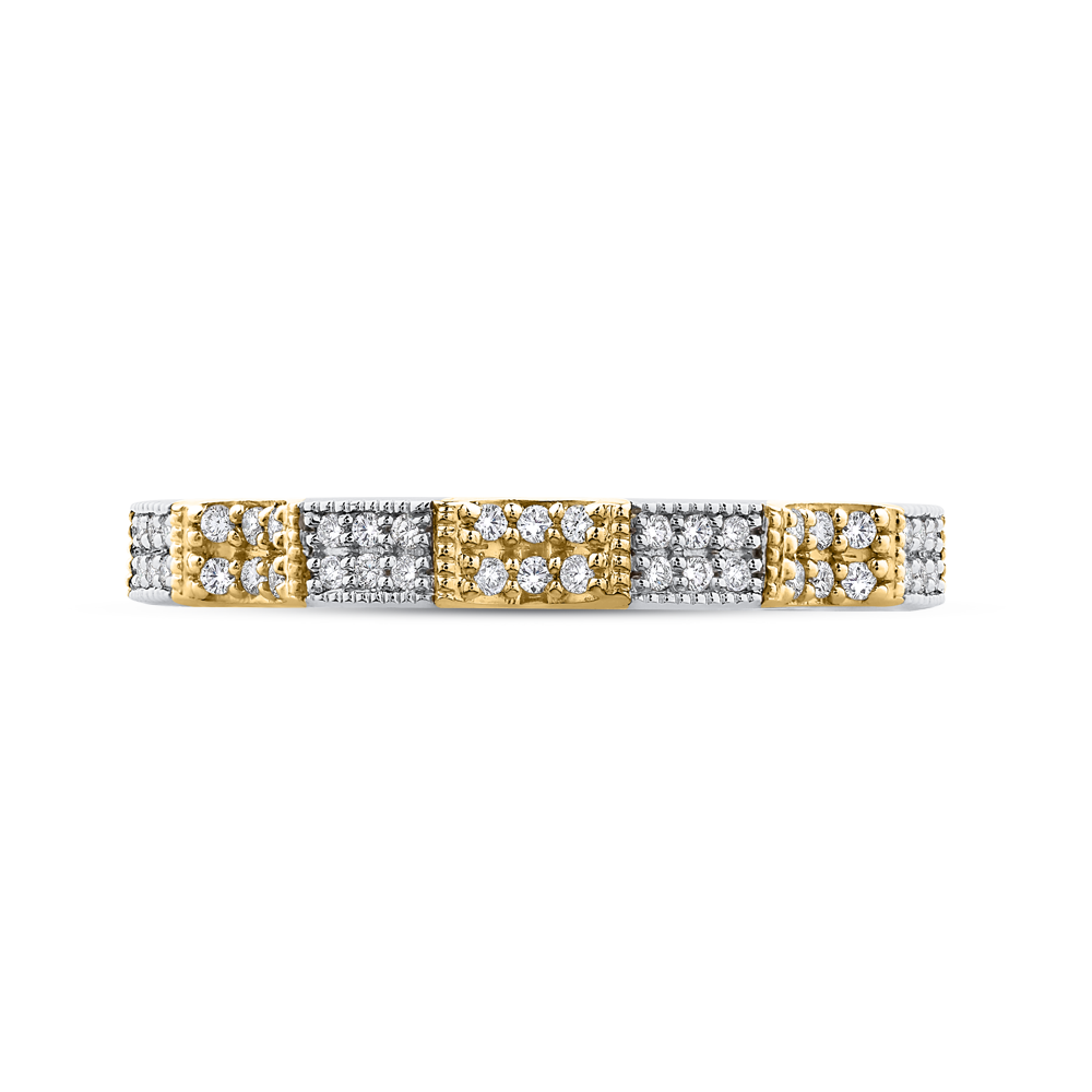 18K Two-Tone Ladies Wedding Band The Stone Jewelers Boone, NC