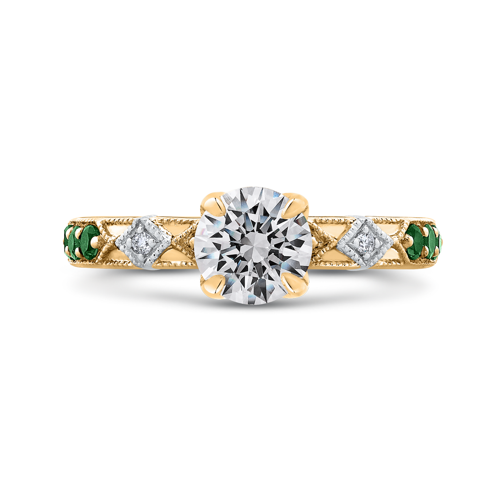 18K Two-Tone Engagement Ring The Stone Jewelers Boone, NC