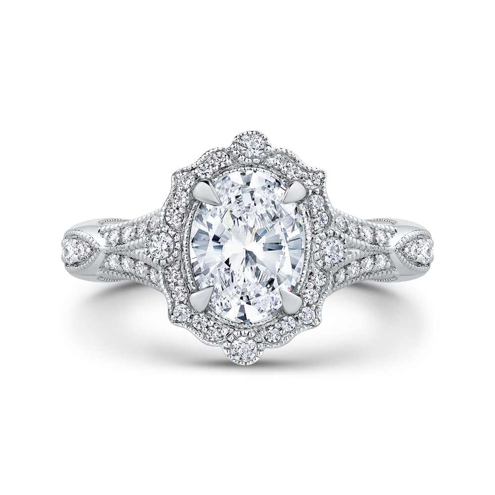 18K White Gold Engagement Ring The Stone Jewelers Boone, NC