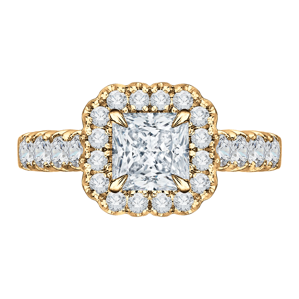 18K Yellow Gold Engagement Ring The Stone Jewelers Boone, NC